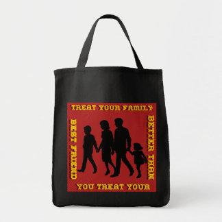 Stoppa familjevåld/fest din familj tygkassar