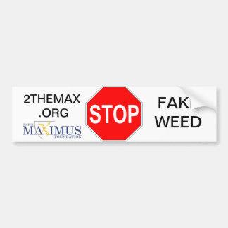 STOPPA fejkar ogräset med till Maximusen! Bildekal