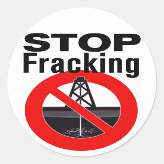 Stoppa Fracking Runt Klistermärke