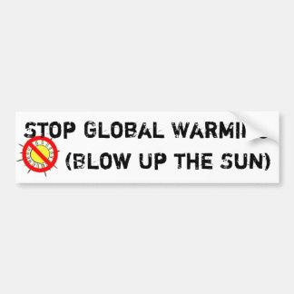 Stoppa global värme bildekal