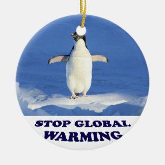 Stoppa global värme multiplicerar siroki.png rund julgransprydnad i keramik