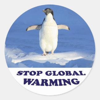 Stoppa global värme multiplicerar siroki.png runt klistermärke