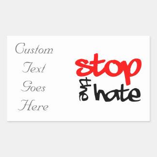 Stoppa hatet rektangulärt klistermärke
