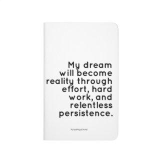 Stoppa i fickan journalen för drömmare: anteckningsbok