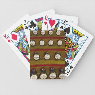 Stoppa knoppar som leker kort spelkort