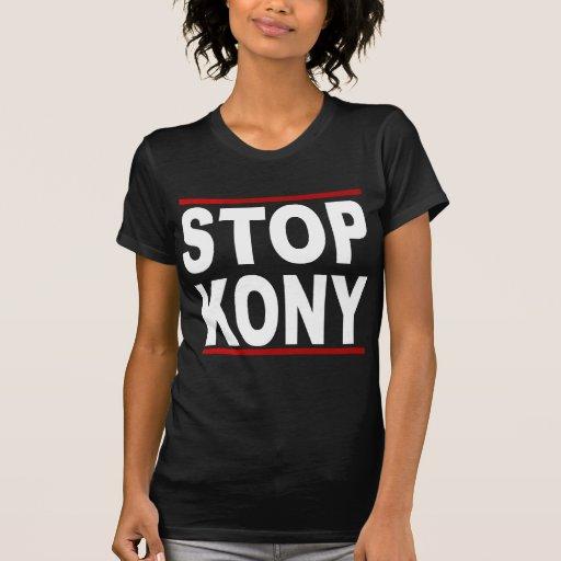Stoppa Kony 2012, stoppet på ingenting, politiska Tee Shirt