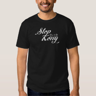 Stoppa Kony vit på svart Tshirts
