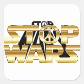 Stoppa krig fyrkantigt klistermärke