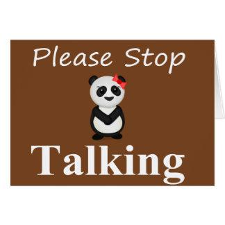 Stoppa samtal Pandabjörnen Hälsningskort