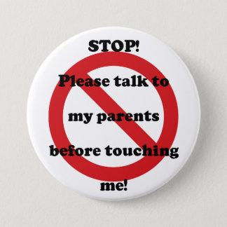 Stoppa samtalet till min föräldrar, för röra jag mellanstor knapp rund 7.6 cm