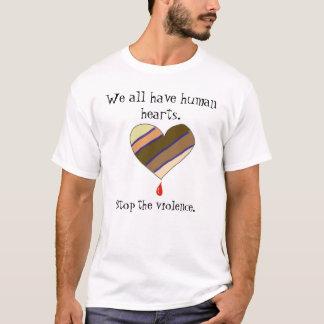 Stoppa våldutslagsplatsskjortan t-shirt