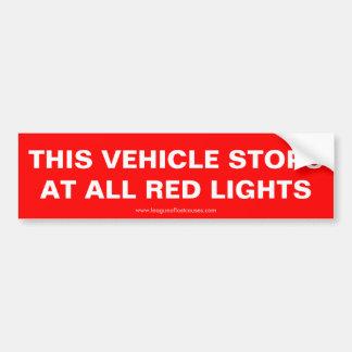 """""""Stoppar detta fordon"""" bildekalet Bildekal"""