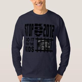 Stoppet Kony 2012 - gör det för UNGARNA T-shirts