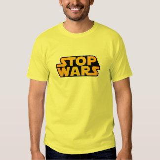 Stoppet kriger guld - hoppas för världsfred - t shirts