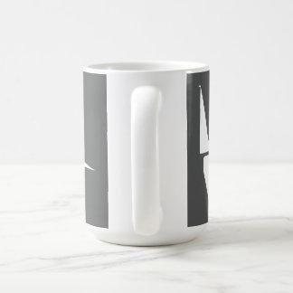 Stor 444 ml mugg med vit på Slate logotypen