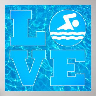 Stor affisch för simmaKÄRLEKbassäng för simmare &