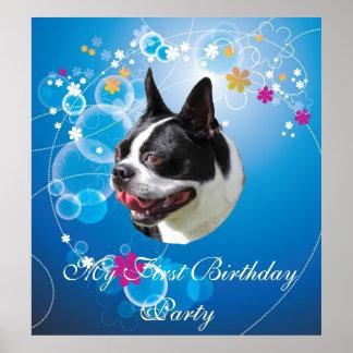 Stor affisch för Terrier för SmileyBoston tjur