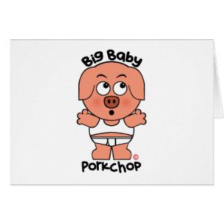 Stor baby Porkchop för gullig gris Hälsningskort