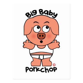 Stor baby Porkchop för gullig gris Vykort
