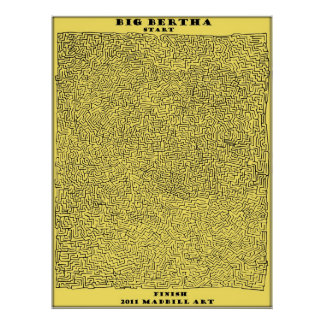 Stor Bertha Maze Poster