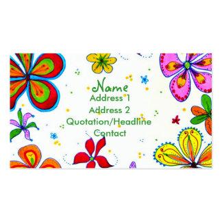 Stor blommakonstvisitkort set av standard visitkort