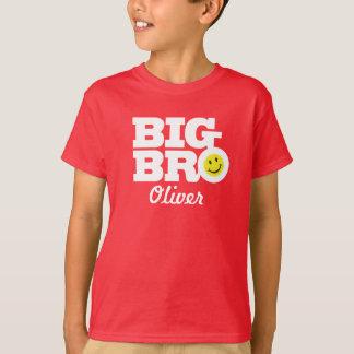 Stor bronamnvit på den röda unget-skjortan t shirt