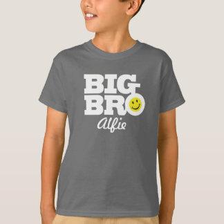 Stor bronamnvit på grå färg lurar t-skjortan tee shirt