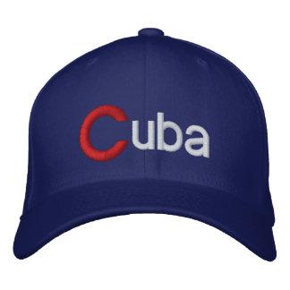 Stor C Kubabaseballmössa för Kuba Broderad Keps