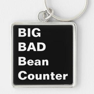 STOR DÅLIGA BEANCOUNTER - humoristisk revisorgåva Fyrkantig Silverfärgad Nyckelring