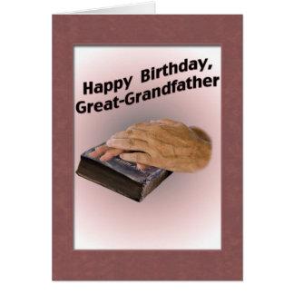 Stor- farfar födelsedagkort hälsningskort