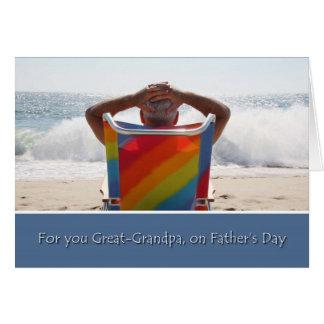 Stor- farfar för lycklig fars dag, havkort hälsningskort