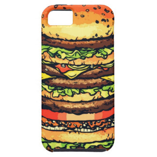 Stor färgrik hamburgare iPhone 5 Case-Mate fodraler