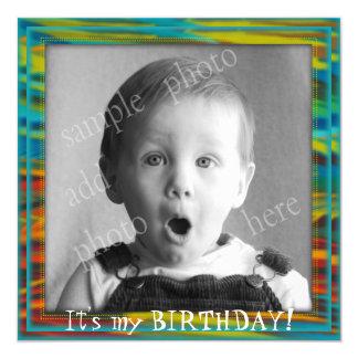 Stor fotopys födelsedagsfest inbjudan