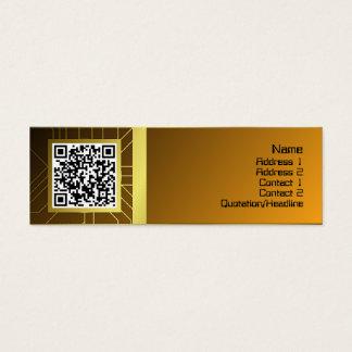 Stor främmande registreringsapparat litet visitkort