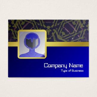 Stor främmande registreringsapparat visitkort