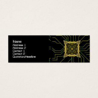 Stor främmande teknologi litet visitkort