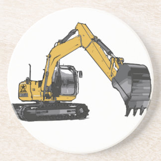 Stor gul grävskopa underlägg sandsten
