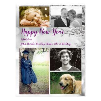 Stor hälsning för foto för familjgott nytt vykort