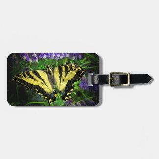 Stor härlig gult- och svartfjäril bagagebricka