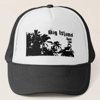 Stor hatt för palmträd för vit för ökärleksvart keps