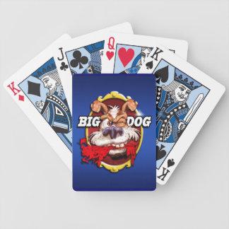 """""""Stor hund"""" som leker kort Spelkort"""