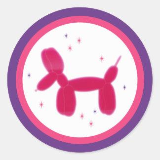Stor hundklistermärke runt klistermärke
