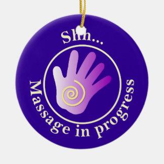 Stör inte dörrhängare julgransprydnad keramik