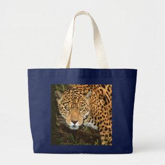 Stor jaguar -, hänger lös den härliga prickiga jumbo tygkasse