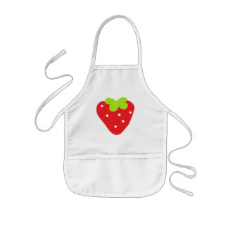 Stor jordgubbe barnförkläde