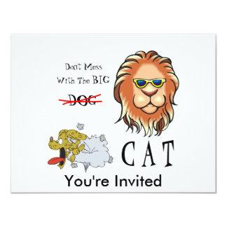 Stor katt 10,8 x 14 cm inbjudningskort