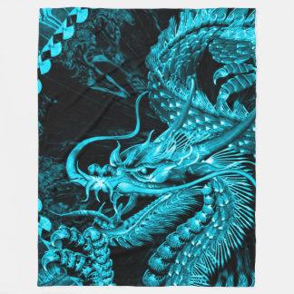 Stor kinesisk odödlig Astral drakekonstfilt Fleecefilt