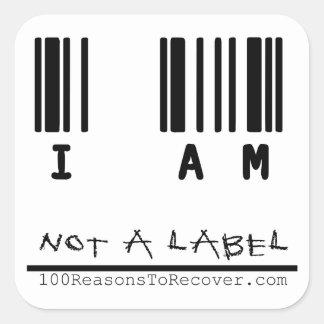 Stor klistermärke - inte en etikett