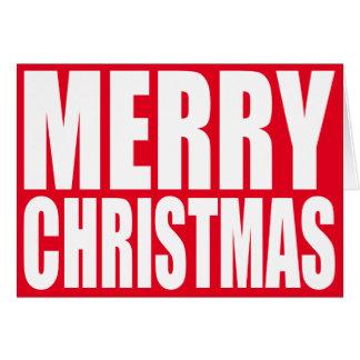 Stor kvartervitgod jul hälsningskort