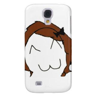 Stor leendetecknad Meme för brunett Galaxy S4 Fodral